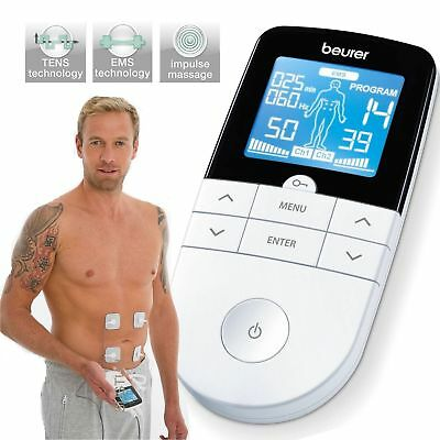 Beurer EM49 Digital Pain Relief Machine 3 in 1 Pain Therapy TENS EMS MASSAGE New
