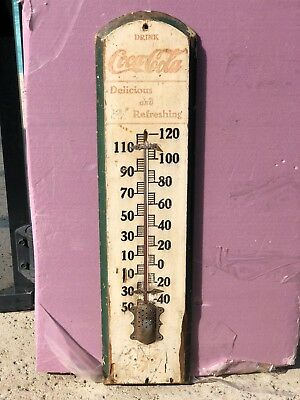 1905. Drink Coca Cola Wood Thermometer.  Good Condition. Good Condition