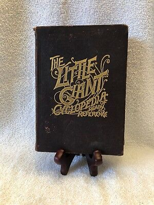 Antique 1897 Book THE LITTLE GIANT CYCLOPEDIA OF READY REFERENCE Many Maps