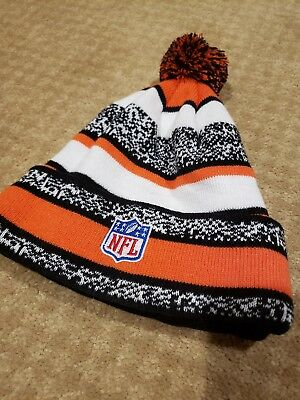 8cb7c966 authentic cincinnati bengals new era knit hat striped cuff pom beanie  stocking cap nfl 33dcb 39f2d