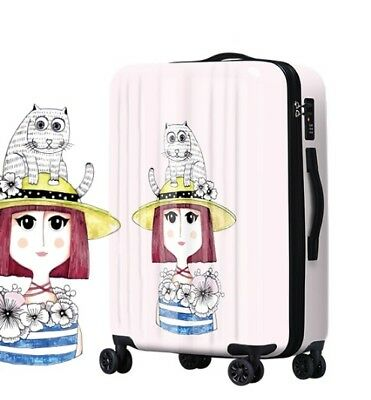 D684 Lock Universal Wheel Cartoon Character Travel Suitcase Luggage 24 Inches W