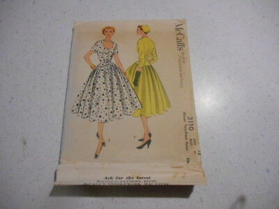 Vintage 1955 McCall's Dress Sewing Pattern