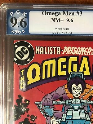 OMEGA MEN #3 PGX 9.6. FIRST APPEARANCE OF LOBO. WHITE PAGES. DC 1978 Mint Case