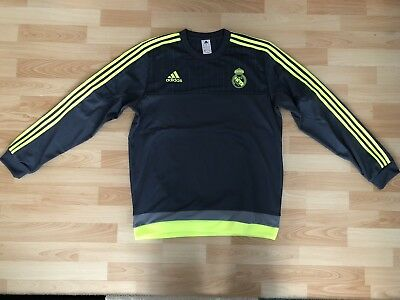 Adidas Real Madrid Training Sweat Top Gr L Grau