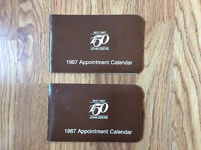 Two 1987 John Deere Appointment Calendars (150th Anniversary) New