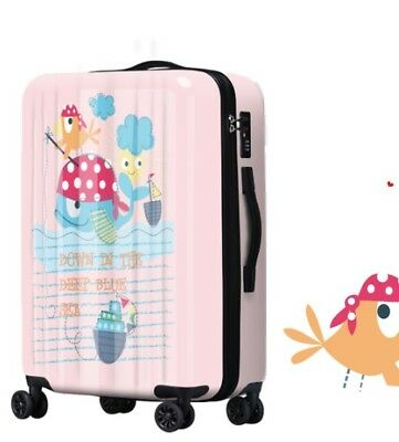 D778 Cartoon Universal Wheel ABS+PC Travel Suitcase Cabin Luggage 28 Inches W