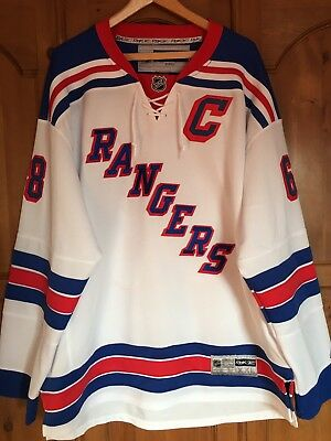 Jaromir Jagr New York Rangers Official Reebok Ice Hockey NHL Jersey Shirt  XL.