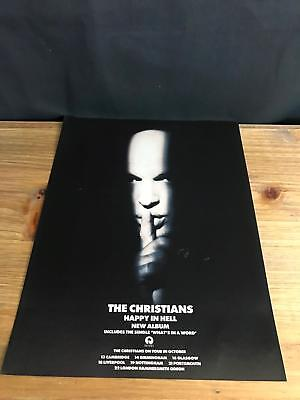 1992 VINTAGE 9X12 ALBUM PROMO PRINT Ad THE CHRISTIANS HAPPY IN HELL + TOUR DATES