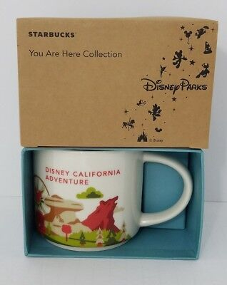 Disney Parks California Adventure Starbucks mug You are here collection new