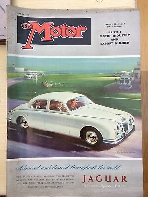 The Motor Magazine, May 14th 1958, One Shilling. Jaguar 3.4 litre Saloon