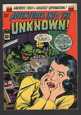 ACG Comics Adventures Into Unknown 39 VG/F DRAWING COMES ALIVE! PreCode Horror