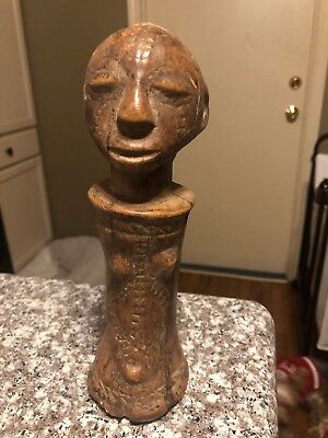 Carved Wooden Figural Food Masher Pestle  Early 20Th Century Somali Boni African