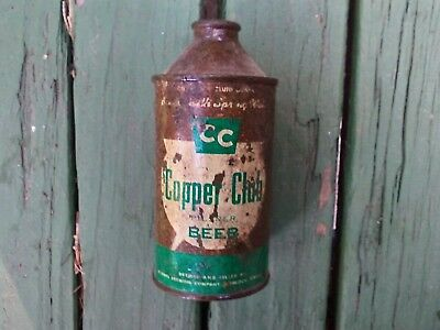 Copper club cone top beer can