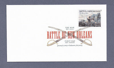 *NEW* US Scott #4952 Battle of New Orleans - War of 1812 - DCP FDC - 2015