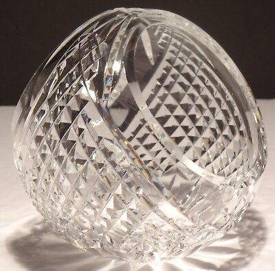 Vintage Waterford Crystal Alana Cut Giftware Basket Vase Candy Dish ~ Ireland