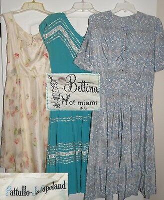 Vintage Dress Lot Of Four, 1940-1950, All Need Rework
