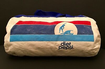 Vintage Diet Pepsi Barrel Style Duffle Bag - Made In The USA