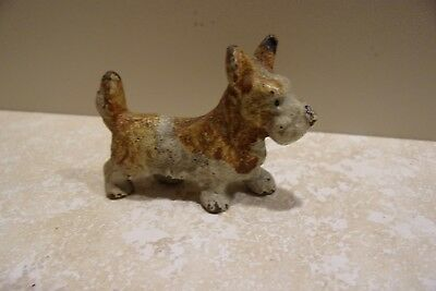 Vintage Cast Iron Toy Dog Terrier VERY OLD