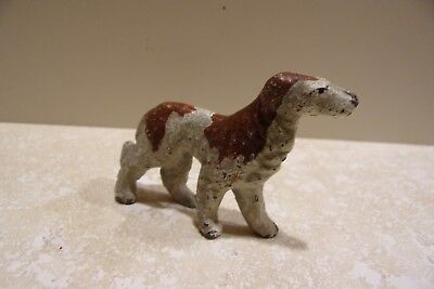 Vintage Cast Iron Toy Dog Wolfhound VERY OLD