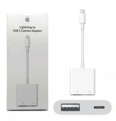 New Genuine Apple Lightning to USB-3 Camera Adapter For iPhone And iPad