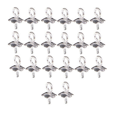 20x Findings Bail Connector Bale Pinch Clasp Pendants Craft Jewelry Accessory S/&