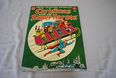 Limited Collectors Edition C-43 Christmas with Super Heroes DC 1976 Large Comic