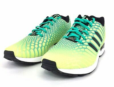 the latest bd955 062cf ADIDAS ORIGINAL ZX Flux Xeno Frozen Yellow Shock Mint White AQ8212 Mens  Size 12