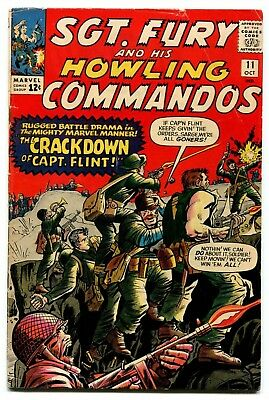 Sgt. Fury and His Howling Commandos #11 Marvel Comics 1964 VG 4.0