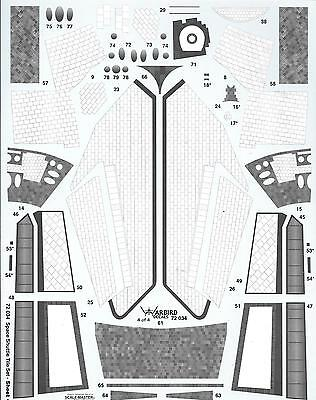 ALL NEW!!  Warbird Space Shuttle Tile Details, Decals,  Monogram Kit in 1/72 034