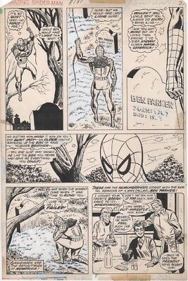 AMAZING SPIDERMAN #181 Page 2 Original Art by Sal Buscema and Jim Mooney