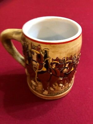 1980 Budweiser Christmas Holiday Beer Stein Rare Variation CS19A-4