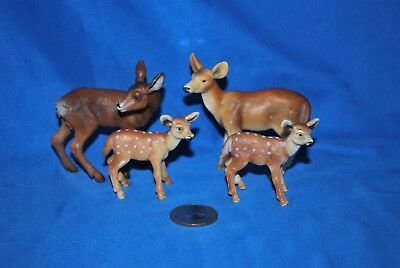 Lot of 4 Schleich Deer in Very Good Used Condition