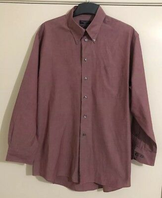 Mens DOCKERS Salmon/Red Wine Shirt. Size L-XL