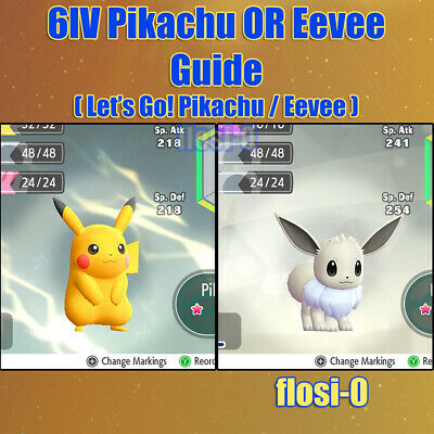 Shiny Pikachu & Eevee 6IV Pokemon Guide [Lets Go P/E]