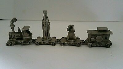 Coca-cola pewter train
