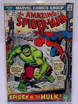 Marvel Amazing Spiderman #119 Hulk Crossover!  VF+ Condition!  Complete!