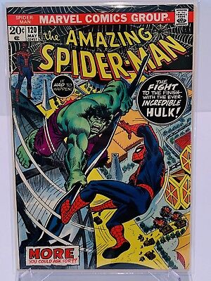 Marvel Amazing Spiderman #120 Hulk Crossover!  VF+ Condition!  Complete!