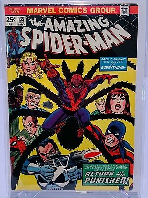 Marvel Amazing Spiderman #135 2nd Punisher!  FN Condition!  Complete!