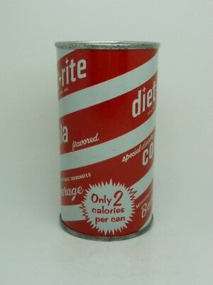 R-2-DIET RITE COLA Flat Top Soda Can-ROYAL CROWN-BALTIMORE MARYLAND