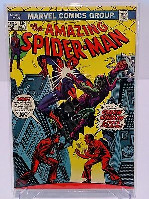 Marvel Amazing Spiderman #136 Harry Green Goblin!  FN+ Condition!  Complete!