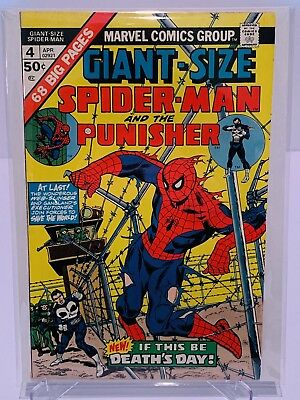 Marvel Giant Size Spiderman #4 3rd Punisher!  FN+ Condition!