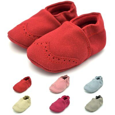 New Baby Toddler Soft Sole Leather Anti-slip Shoes Infant Boy Girl Walking Shoes