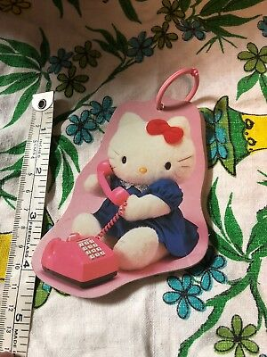 54573ace5d Vtg Hello Kitty Sanrio •MEMORIES• 1976 1986 HK On Each Page ~ Pink Telephone