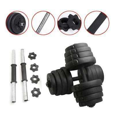 10/15/20/30KG Dumbbell Set Adjustable Weights Gym Fitness Workout Training Black
