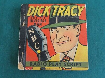 Dick Tracy And The Invisible Man Radio Play Script  1939 Big Little Book Premium
