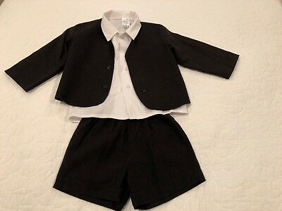 Lito Kids Boys Linen Suit Size 3T Three-piece set EUC