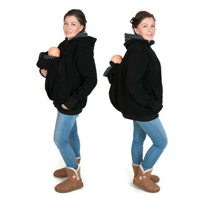 Babywearing Fleece Baby carrier hoodie Kangaroo coat jacket for BABY Women S~3XL