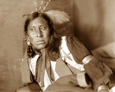 Sammy Lone Bear 1898 Sioux Native American Sepia Photo