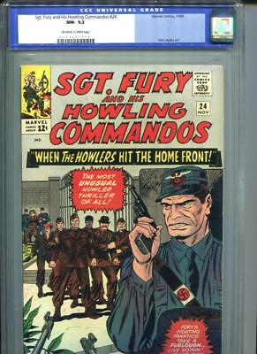 Sgt. Fury & His Howling Commandos #24 CGC 9.2 OW/White Pages HItler Cameo