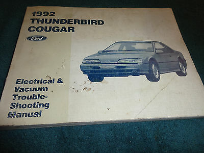 1991 Ford Thunderbird Cougar Electrical Wiring Diagram Service. 1992 Ford Thunderbird Cougar Wiring Vacuum Diagram Shop Manual Orig Electrical. Ford. Vacuum Diagram Ford Thunderbird Sc At Scoala.co
